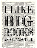 An image of a(n) I Like Big Books Dictionary Art Print.