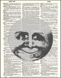 An image of a(n) Lovers in the Moon Illusion Dictionary Art Print.