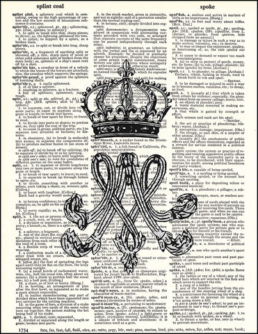 An image of a(n) Marie Antoinette Monogram Dictionary Art Print.