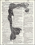 An image of a(n) Mysterious Mermaid Dictionary Art Print.