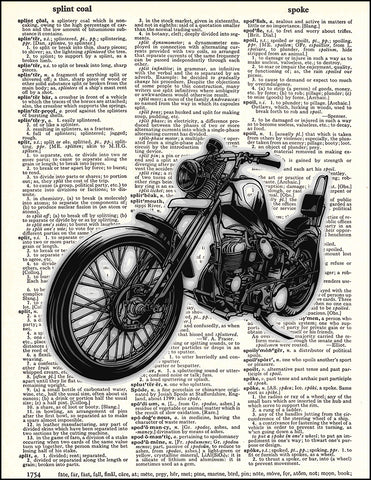 An image of a(n) Chopper Dictionary Art Print.