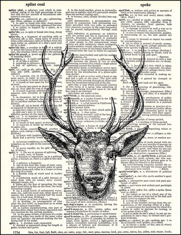 An image of a(n) Stag Dictionary Art Print.