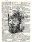 An image of a(n) Steampunk Lady Dictionary Art Print.