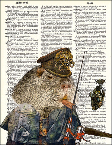 An image of a(n) Steampunk River Rat Dictionary Art Print.