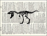 An image of a(n) Tyrannosaurus Rex Skeleton Dictionary Art Print.