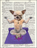 An image of a(n) Yoga Dog Dictionary Art Print.