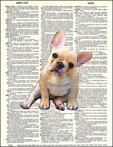 An image of a(n) French Bulldog Puppy Dictionary Art Print.