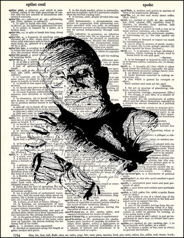 An image of a(n) Mummy Dictionary Art Print.