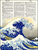 An image of a(n) Great Wave Dictionary Art Print.