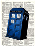 An image of a(n) Tardis Dictionary Art Print.