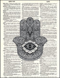 An image of a(n) Hamsa Dictionary Art Print.