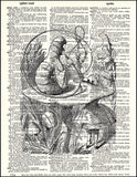 An image of a(n) Alice and the Caterpillar Dictionary Art Print.