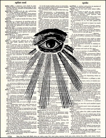 An image of a(n) All Seeing Eye Dictionary Art Print.