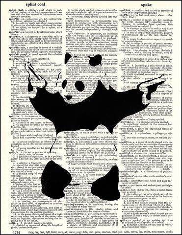 An image of a(n) Banksy Panda Dictionary Art Print.