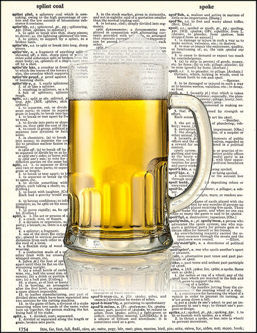 An image of a(n) Beer Dictionary Art Print.