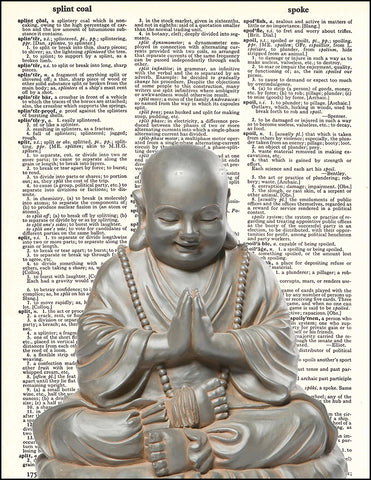 An image of a(n) Buddah Dictionary Art Print.