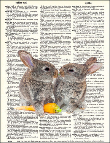 An image of a(n) Bunny Love Dictionary Art Print.