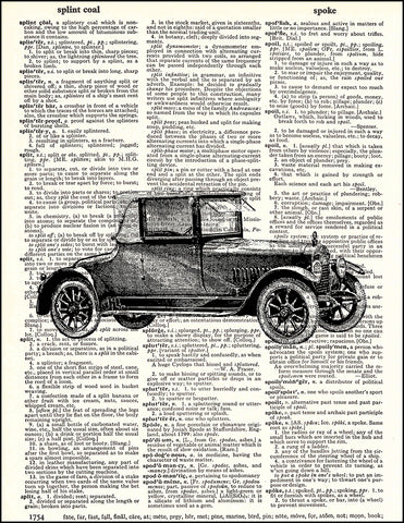 An image of a(n) Car Dictionary Art Print.
