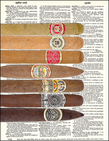 An image of a(n) Seven Cigars Dictionary Art Print.