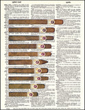 An image of a(n) Ten Cigars Dictionary Art Print.