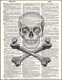 An image of a(n) Skull and Crossbones Dictionary Art Print.