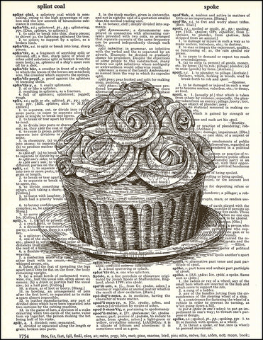 An image of a(n) Cupcake Dictionary Art Print.
