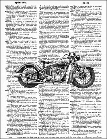 An image of a(n) Indian Motorcycle Dictionary Art Print.