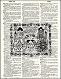 An image of a(n) Henna Hands Dictionary Art Print.