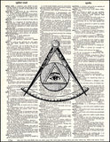 An image of a(n) Illuminati Mason Dictionary Art Print.