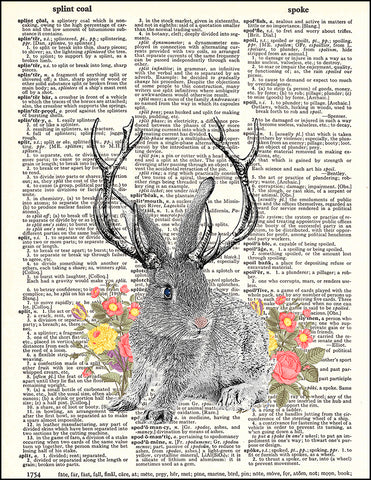 An image of a(n) Jackalope Dictionary Art Print.