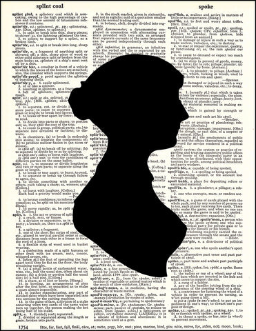 An image of a(n) Jane Austen Silhouette Dictionary Art Print.
