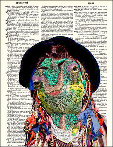 An image of a(n) Karma Chameleon Dictionary Art Print.