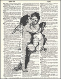 An image of a(n) Kissing Angels Dictionary Art Print.