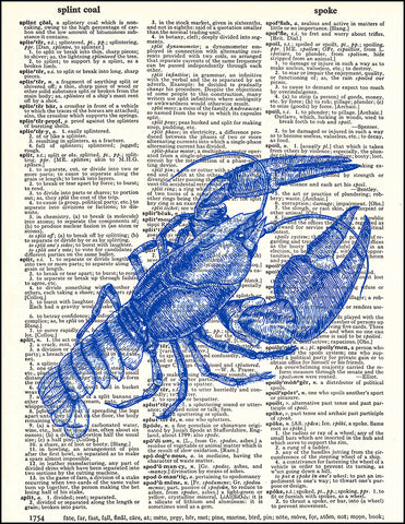 An image of a(n) Blue Lobster Dictionary Art Print.