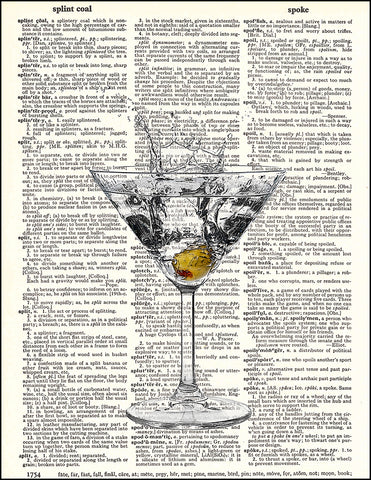An image of a(n) Martini Dictionary Art Print.