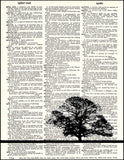 An image of a(n) Oak Tree Dictionary Art Print.