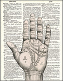 An image of a(n) Palm Reader Dictionary Art Print.