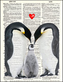 An image of a(n) Penguin Family Love Dictionary Art Print.