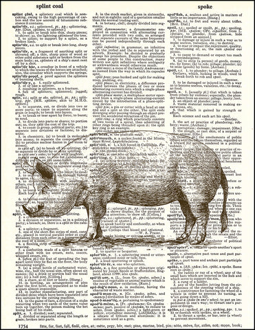 An image of a(n) Pig Dictionary Art Print.