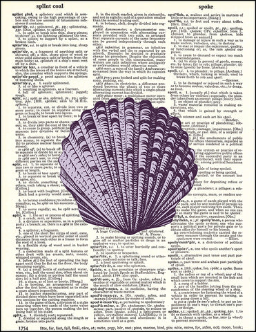 An image of a(n) Purple Seashell Dictionary Art Print.