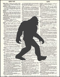 An image of a(n) Sasquatch Silhouette Dictionary Art Print.