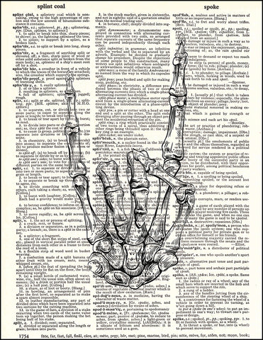 An image of a(n) Skeleton Rock Hand Dictionary Art Print.