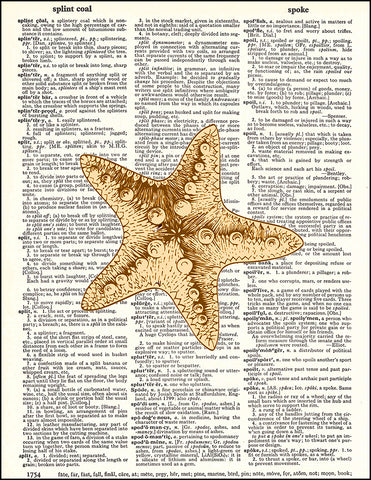 An image of a(n) Starfish Dictionary Art Print.