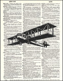 An image of a(n) Airplane Dictionary Art Print.