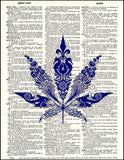 An image of a(n) Artistic Pot Leaf Dictionary Art Print.