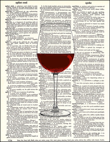 An image of a(n) Red Wine Dictionary Art Print.
