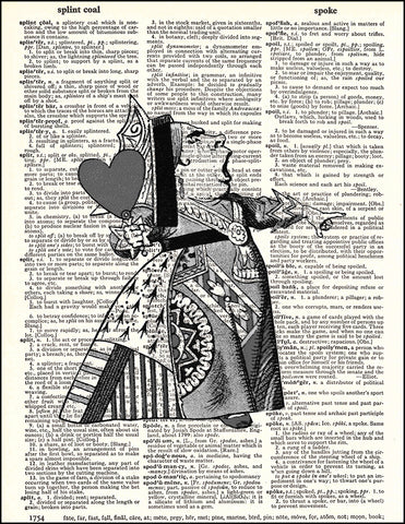 An image of a(n) Queen of Hearts Dictionary Art Print.
