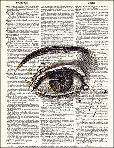 An image of a(n) Human Eye Dictionary Art Print.