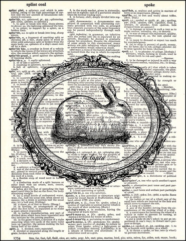 An image of a(n) Bunny Rabbit Le Lapin Dictionary Art Print.