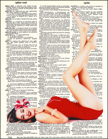 An image of a(n) Pin Up Girl Dictionary Art Print.